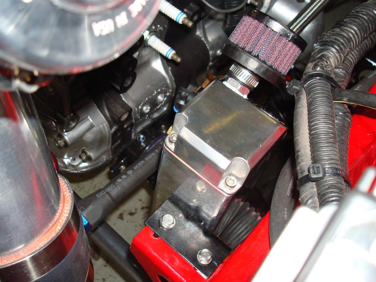 B Oil Catch Can Installed on Walbro Fuel Pump