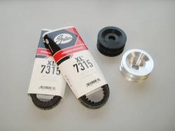 FC Aluminum Dual Belt Pulley Kit